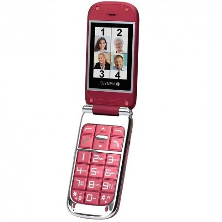 Olympia Becco Plus Seniorenmodell Dual-SIM red