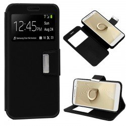 Funda Flip Cover Alcatel 1C Liso Negro