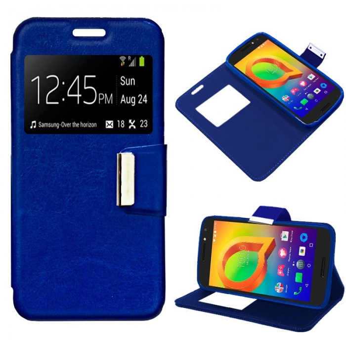 Funda Flip Cover Alcatel A3 Liso Azul