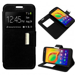 Funda Flip Cover Alcatel A3 Liso Negro