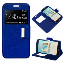 Funda Flip Cover Alcatel A7 Liso Azul