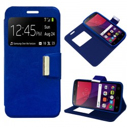Funda Flip Cover Alcatel Pixi 4 (5) 4G / Smart 7 Turbo Liso Azul