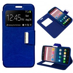 Funda Flip Cover Alcatel Pixi 4 (6) 3G / Alcatel A2 XL Liso Azul