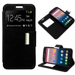 Funda Flip Cover Alcatel Pixi 4 (6) 3G / Alcatel A2 XL Liso Negro