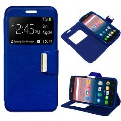 Funda Flip Cover Alcatel Pixi 4 (6) 4G Liso Azul