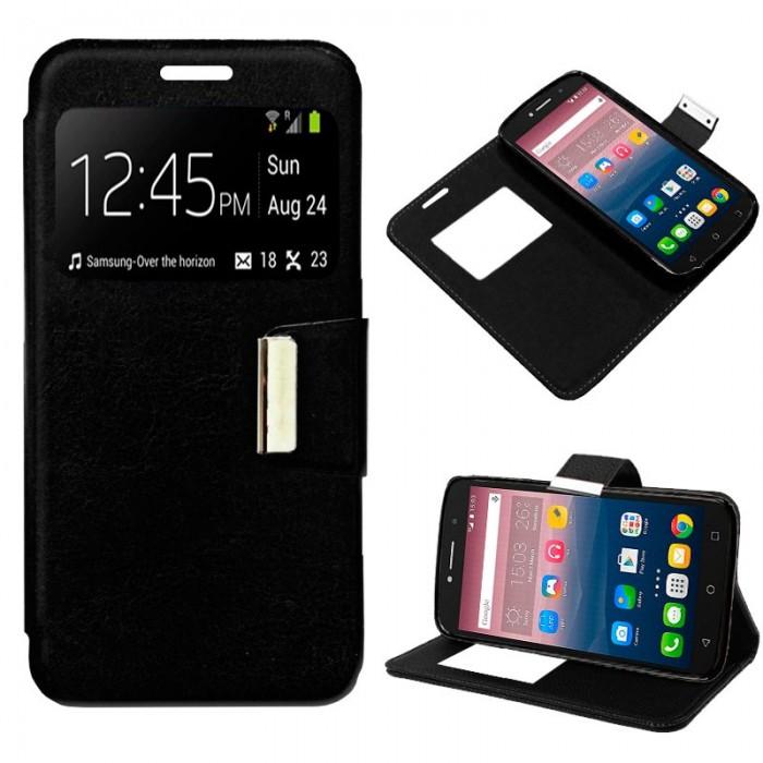 Funda Flip Cover Alcatel Pixi 4 (6) 4G Liso Negro