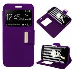 Funda Flip Cover Alcatel Pop 4 (5) Liso Violeta