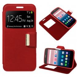 Funda Flip Cover Alcatel Pop Up Liso Rojo