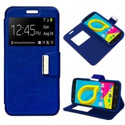 Funda Flip Cover Alcatel U5 4G Liso Azul