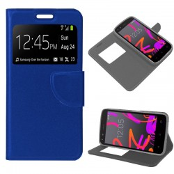 Funda Flip Cover BQ Aquaris M4.5 / A4.5 Liso Azul