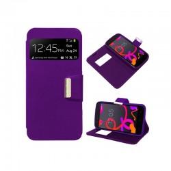 Funda Flip Cover BQ Aquaris M4.5 / A4.5 Liso Violeta