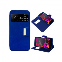 Funda Flip Cover BQ Aquaris M5 Liso Azul
