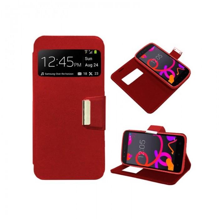 Funda Flip Cover BQ Aquaris M5 Liso Rojo