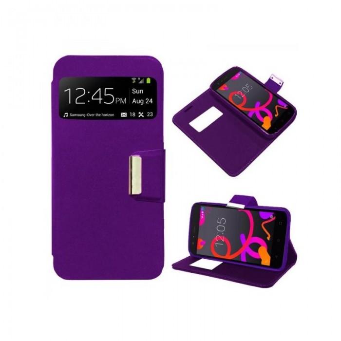Funda Flip Cover BQ Aquaris M5 Liso Violeta