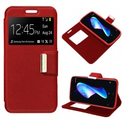 Funda Flip Cover BQ Aquaris V Plus / VS Plus Liso Rojo