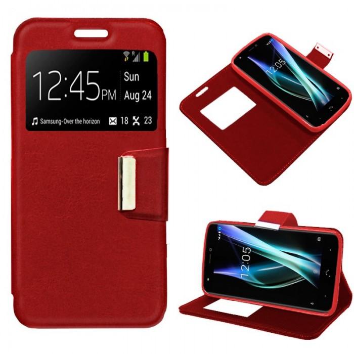 Funda Flip Cover BQ Aquaris X / X Pro Liso Rojo