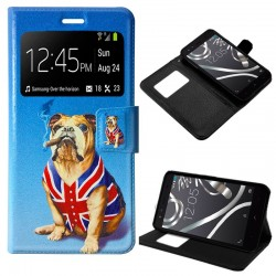 Funda Flip Cover BQ Aquaris X5 Dibujos Dog