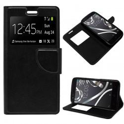Funda Flip Cover BQ Aquaris X5 Liso Negro