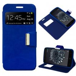 Funda Flip Cover BQ Aquaris X5 Plus Liso Azul