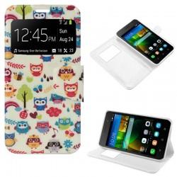 Funda Flip Cover Huawei G650 G Play Mini Dibujos Buhos
