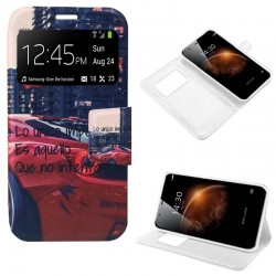 Funda Flip Cover Huawei G8 / GX8 Dibujos Car
