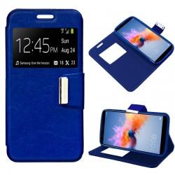 Funda Flip Cover Huawei Honor 7X Liso Azul