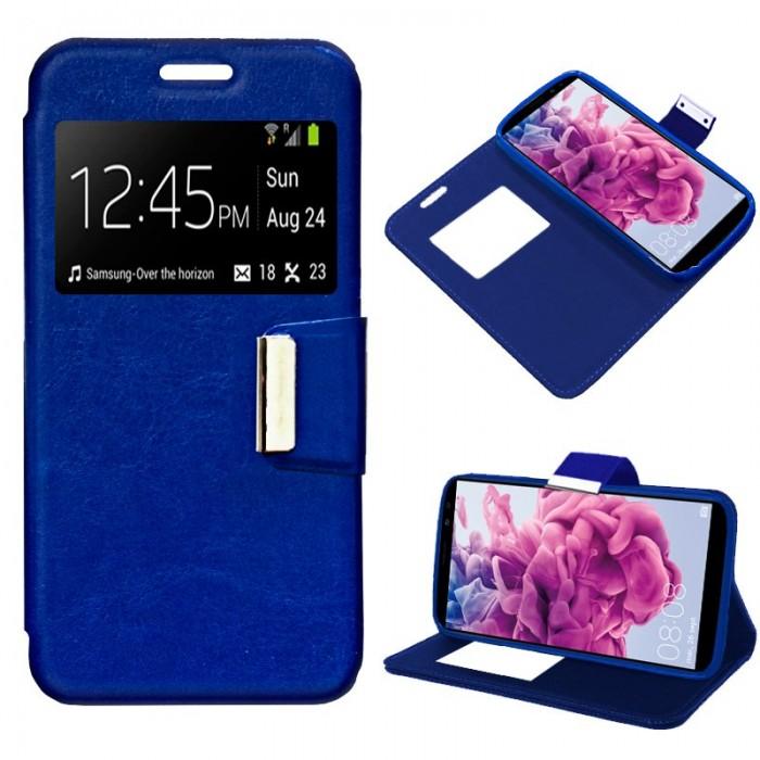 Funda Flip Cover Huawei Mate 10 Lite Liso Azul