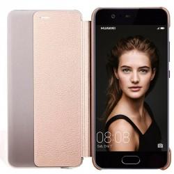 Funda Flip Cover Huawei P10 Clear View Dorado