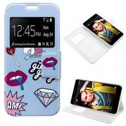 Funda Flip Cover Huawei P10 Lite Dibujos Lips