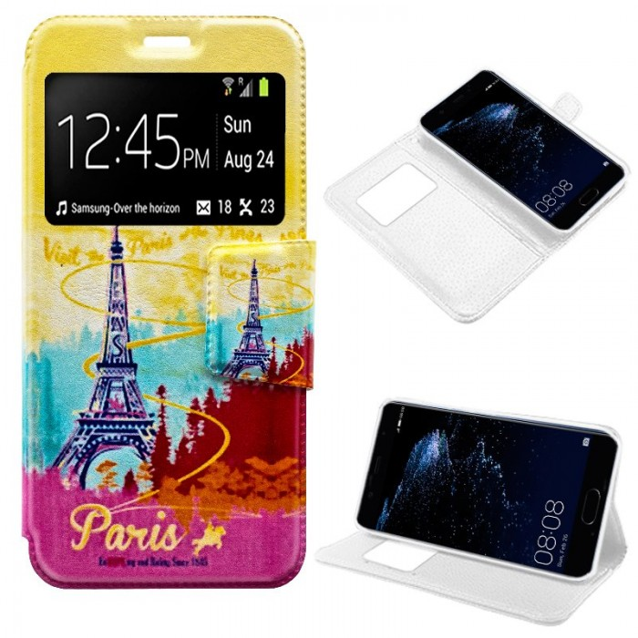 Funda Flip Cover Huawei P10 Plus Dibujos Paris