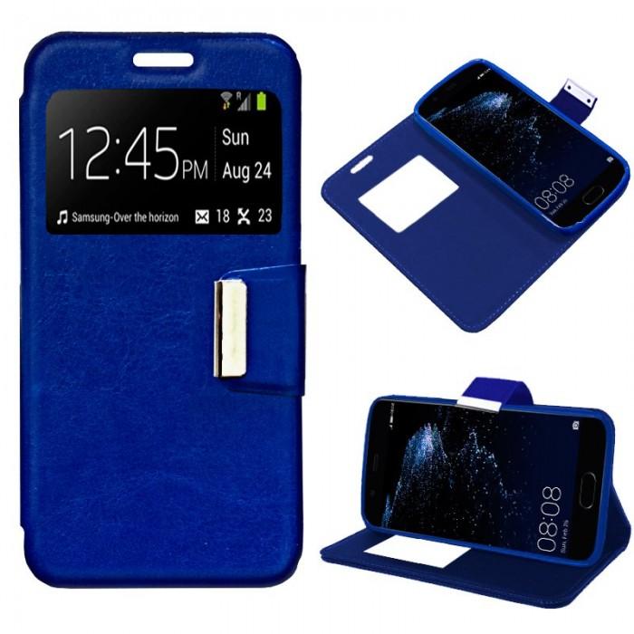 Funda Flip Cover Huawei P10 Plus Liso Azul