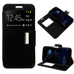 Funda Flip Cover Huawei P10 Plus Liso Negro