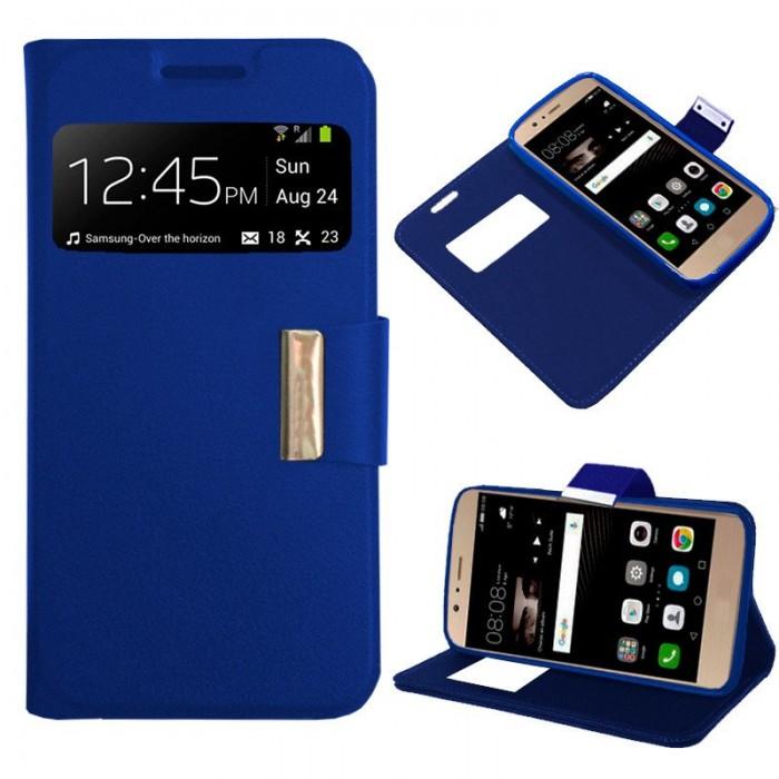Funda Flip Cover Huawei P9 Lite Liso Azul