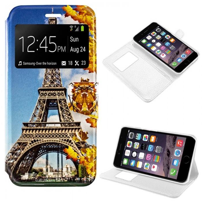 Funda Flip Cover iPhone 6 Plus / 6s Plus Dibujos Torre Eiffel