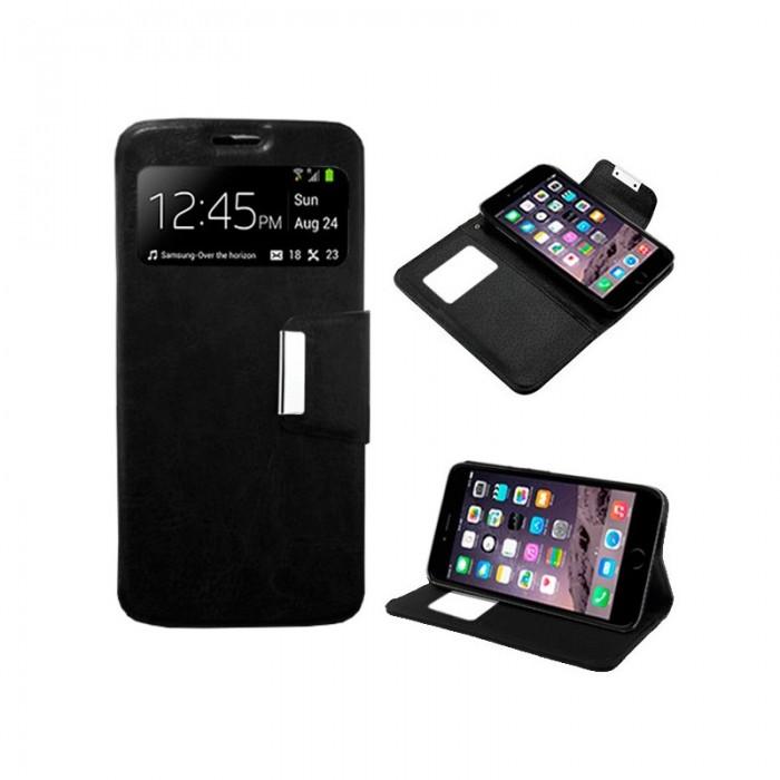 Funda Flip Cover iPhone 6 Plus / 6s Plus Liso Negro
