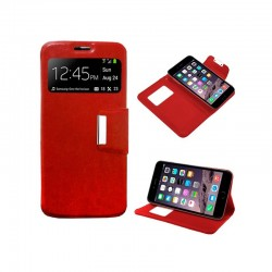 Funda Flip Cover iPhone 6 Plus / 6s Plus Liso Rojo