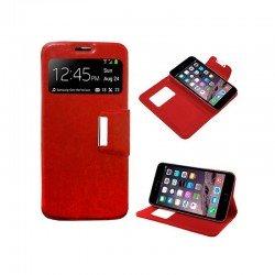Funda Flip Cover iPhone 6 Plus / 6s Plus Liso Rojo
