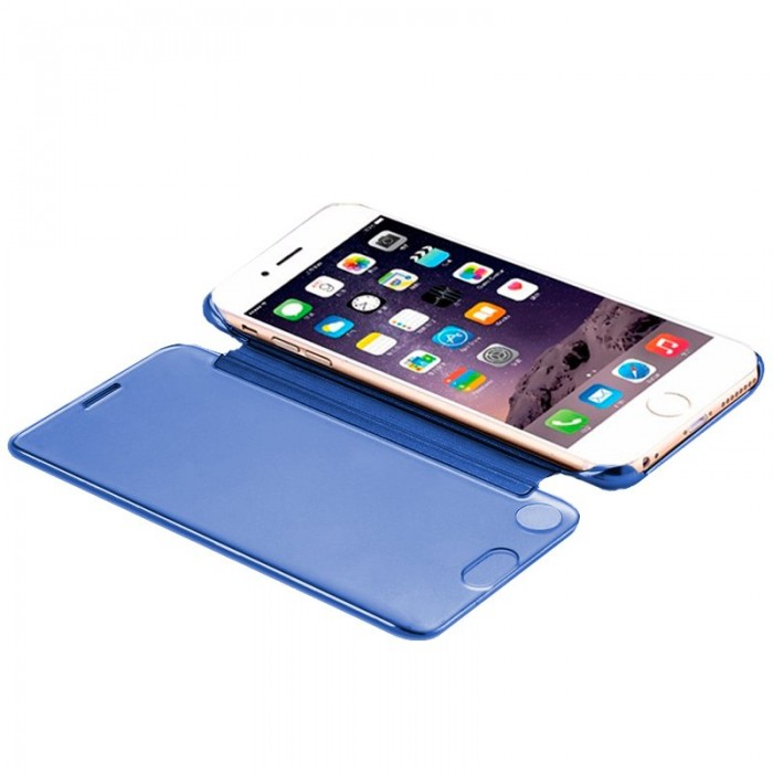 Funda Flip Cover iPhone 7 / iPhone 8 Clear View Azul