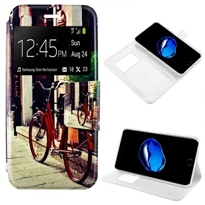 Funda Flip Cover iPhone 7 / iPhone 8 Dibujos Bike
