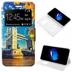Funda Flip Cover iPhone 7 Plus / iPhone 8 Plus Dibujos London