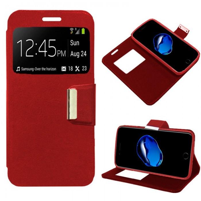 Funda Flip Cover iPhone 7 Plus / iPhone 8 Plus Liso Rojo