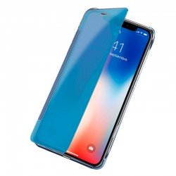 Funda Flip Cover iPhone X / iPhone XS Clear View Azul