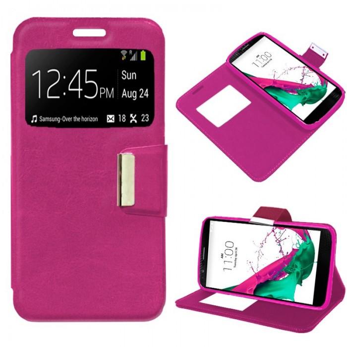 Funda Flip Cover LG G4C / Magna Liso Rosa