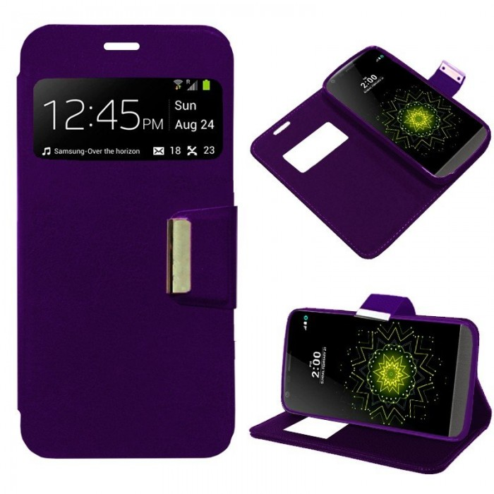 Funda Flip Cover LG G5 Liso Violeta
