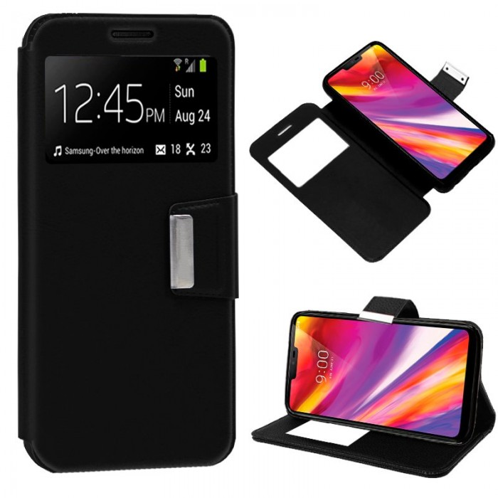 Funda Flip Cover LG G7 ThinQ Liso Negro