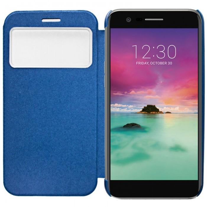 Funda Flip Cover LG K10 (2017) Clear View Azul
