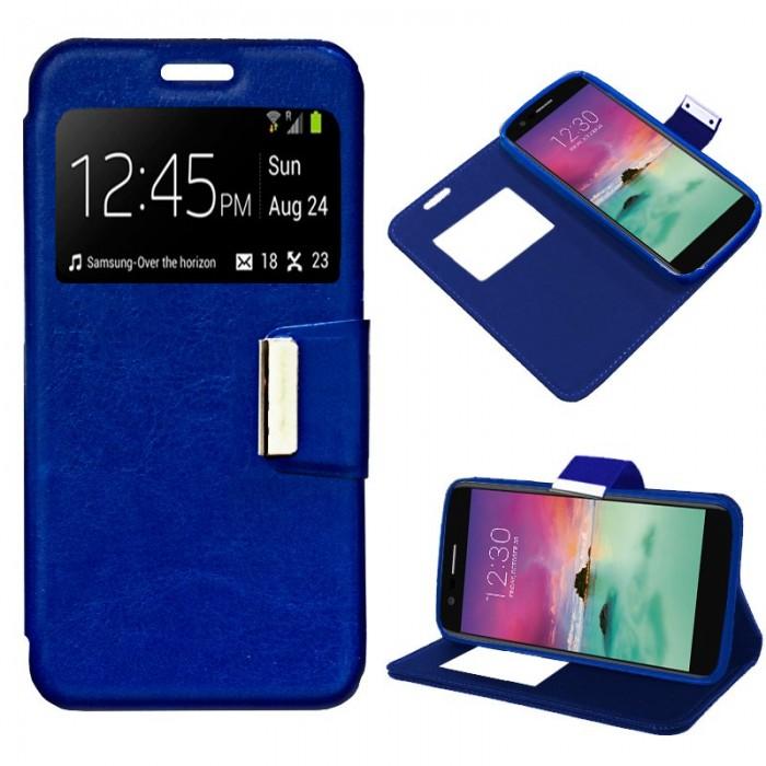 Funda Flip Cover LG K10 (2017) Liso Azul
