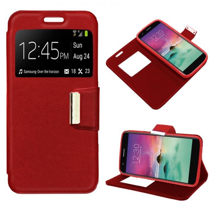 Funda Flip Cover LG K10 (2017) Liso Rojo