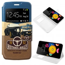 Funda Flip Cover LG K4 Dibujos Car