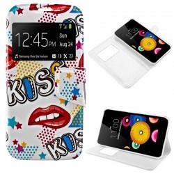 Funda Flip Cover LG K4 Dibujos Kiss